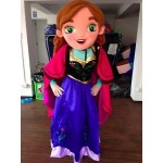 Anna The Snow QueenFrozen Mascot Costume Hire
