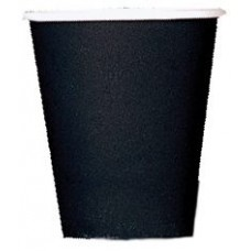 8 x Black Paper Party Cups