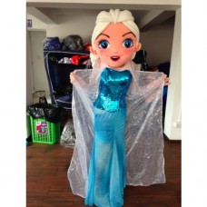 Elsa The Snow Queen Frozen Mascot Costume Hire
