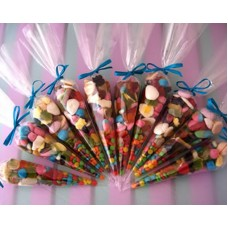 Celophane Party Cone Bags (Ready Filled)