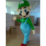 Super Mario Brothers Adult Mascot Costume Hire (Luigi)