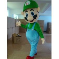 Super Mario Brothers Adult Mascot Costume Hire (Luigi)
