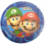 8x Nintendo Super Mario Brothers Party Plates