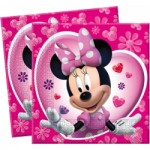 20 x Minnie Mouse Pink Party Napkins