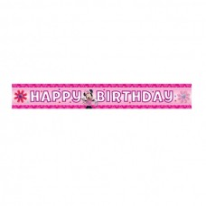 Minnie Mouse Pink Party Banner