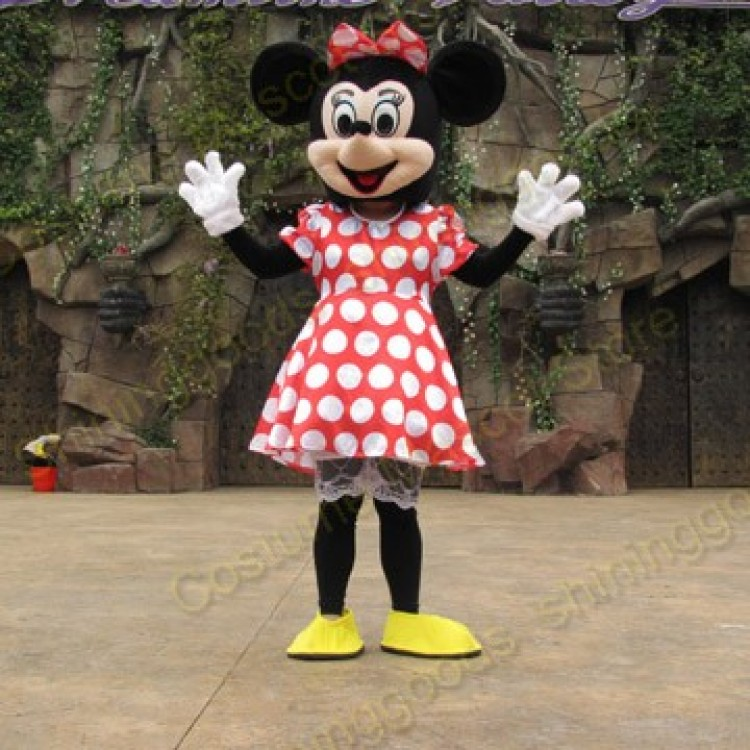& Minnie Mouse Adult Mascot Costume Hire