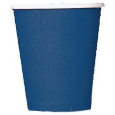 8 x Navy Blue Paper Party Cups