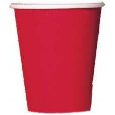 8 x Red Paper Party Cups