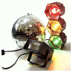Party DJ Disco Karaoke 3 Piece Light Set, Ball and Strobe
