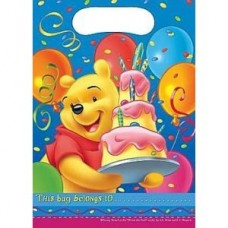 6 x Winnie The Pooh Birthday Party Bags