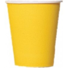 8 x Yellow Paper Party Cups