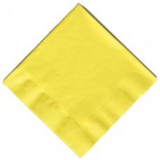 20 x Yellow Party Napkins
